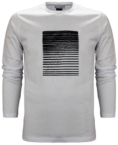 Versace Collection Men's Medusa Logo Long Sleeve T-Shirt White (XXXL)
