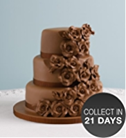 Classic Rose Chocolate Wedding Cake