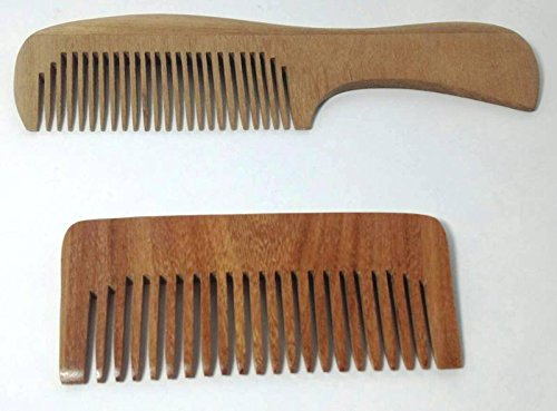 Zoya Wooden Comb Pocket Size With Handle 2 Ea (Oster Metal Comb Attachments compare prices)