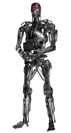 Reel Toys 18 Inch Light-Up Eyes Poseable Action Figure Terminator 2 T-800 Endoskeleton