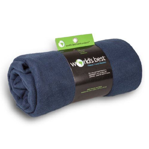 Read About World's Best Cozy Soft Microfleece Travel Blanket, Navy