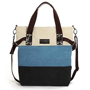 Eshow Women's Canvas Weekend Crossbody Shoulder Bag, Multicolored