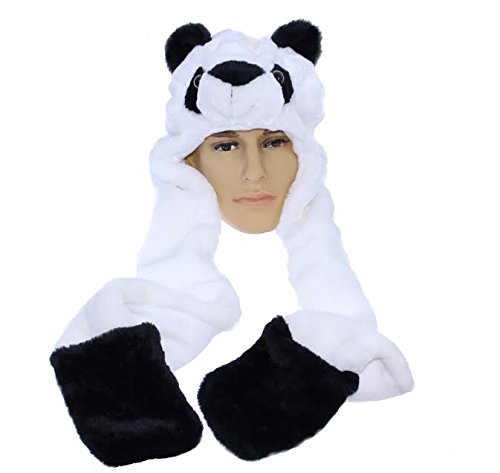Dazzling Toys Plush Panda Hat with Long Paws (For Hands) (D229)