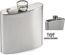 Ramini Brands Stainless Steel Hip Flask - Bonus Wine and Spirits Recipes - Water Liquor Alcohol Trav