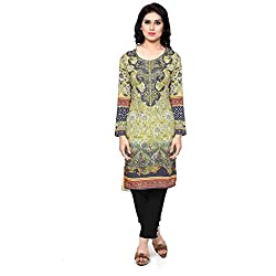 Vaamsi Women's PolyCotton Unstitched Kurti Fabric(KFL1002_Multi-Coloured_Free Size)