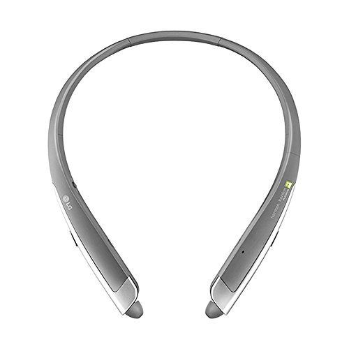 LG - TONE Platinum HBS-1100 Headset In-Ear Behind-The-Neck Mount Wireless Headphones - Silver (Platinum Bluetooth Headphones compare prices)