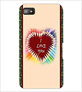 PrintDhaba Quote D-3779 Back Case Cover for BLACKBERRY Z10 (Multi-Coloured)