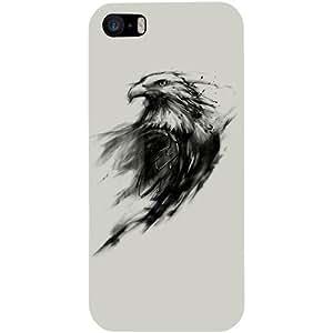 Casotec Eagle Paint Design Hard Back Case Cover for Apple iPhone 5 / 5S