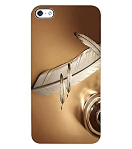 ColourCraft Lovely Feather Design Back Case Cover for APPLE IPHONE 4S
