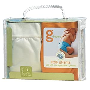 gDiapers Little gPants 2-Pack Orange & Vanilla