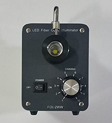 GOWE Microscope 30W LED Cool Fiber Optic Illuminator Microscope Light Accessories