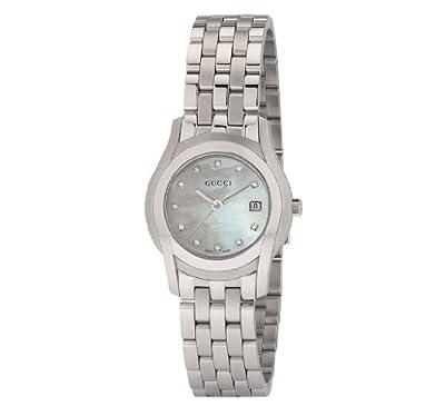 Gucci Women's YA055501 G-Class White MOP Dial 11 Diamonds Watch by Gucci