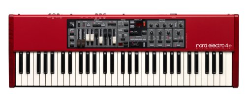Nord Electro 4D Sw61 61-Key Velocity Sensitive Semi Weighted Waterfall Keyboard, With 5 Octaves, C-C