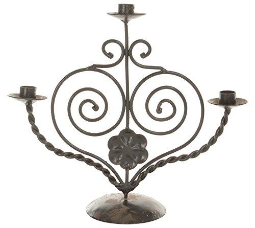 Govind Engineering Works Metal Tealight Candle Holder (31 Cm X 40 Cm, Black)