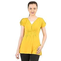 Menthol Womens Mustard Yellow Tunic Top