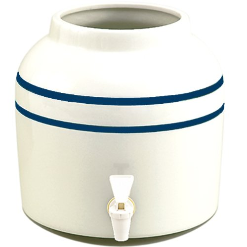 New Wave Enviro Blue Striped Porcelain Water Dispenser, 2.5-Gallon(single) (Ceramic Drink Dispenser compare prices)