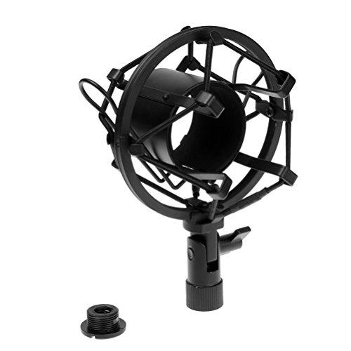 Black Universal Microphone Shock Mount Holder Clip Noise Reduction Large Condenser Mic
