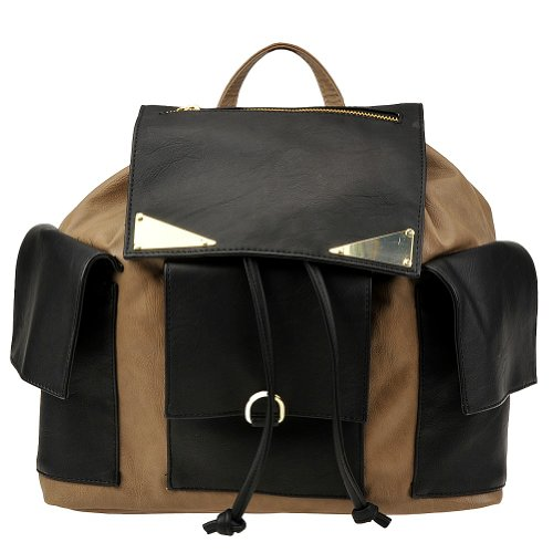 B00DYSQ428 Steve Madden Blaguna Backpack,Black/Taupe,One Size