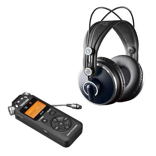 AKG Acoustics K 271 MK II Professional Studio Headphones, Bundle With Tascam DR-05 Portable Handheld Digital Audio Recorder (Akg K 271 Mk Ii compare prices)