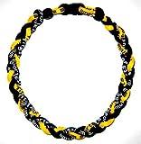 "20"" Yellow/black Titanium Germanium Tornado Baseball Necklace"