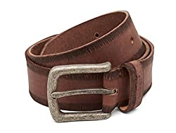 Breakbounce Men's Leather Belt (8907066079617_Large_Brown)