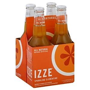 Izze Sparkling Clementine Soda 4pk 12 Oz Bottles