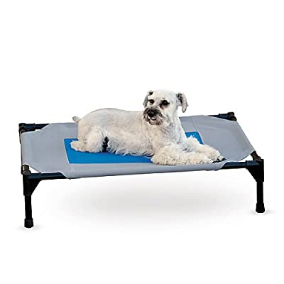 """K&H Manufacturing Coolin' Pet Cot Large Gray/Blue 30"""" x 42"""""""