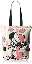 Kanvas Katha Fashion Women's Tote Bag (Ecru) (KKCAMZSS16018)
