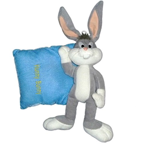 peluche-lapin-bugs-bunny-hunny-sur-coussin-looney-tunes-h-40-x-l-25-cm