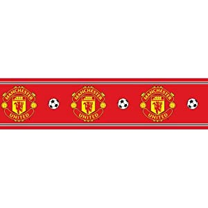 Manchester United F.C. Wallpaper Border- wallpaper border- width 13.5cm- length 5m- official licensed product by Wallpaper / Lighting
