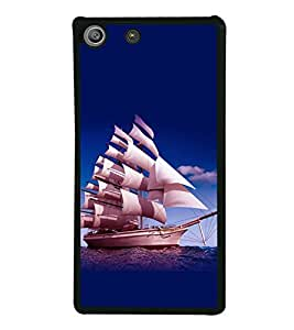 printtech Ship Water Sea Back Case Cover for Sony Xperia M5 Dual E5633 E5643 E5663 , Sony Xperia M5 E5603 E5606 E5653