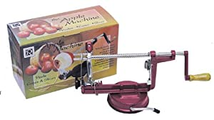 R & M Industries 5920 Apple Peeler/Corer/Slicer, Red