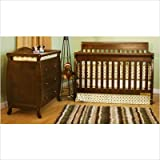 Athena Alice Convertible Crib and Grace I Changing Table in Mocha