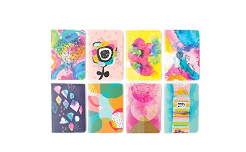International Arrivals Pocket Pal Mini Journals, Set of 8, Abstract (118-163)