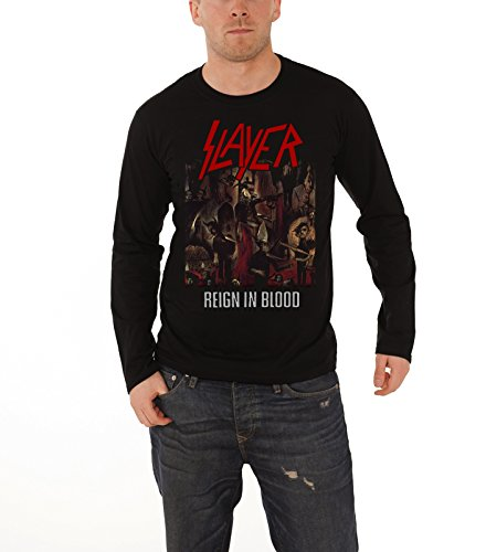Assassino In Blood Prodotto nuovo uomo Reign Black Long Sleeve T-Shirt