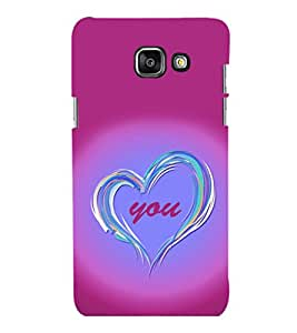 printtech Love You Back Case Cover for Samsung Galaxy A5 (2016) :: Samsung Galaxy A5 (2016) Duos with dual-SIM card slots