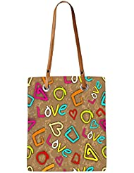 Snoogg Green Flower Womens Digitally Printed Utility Tote Bag Handbag Made Of Poly Canvas With Leather Handle
