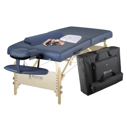 "Master Massage 30"" Coronado LX Portable Massage Table Package, Royal Blue (Includes FREE Carrying Case, Bolster, Spa Music CD's and Pillow Covers)"