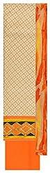 Sainex Women's Jute Unstiched Dress Material (Orange )