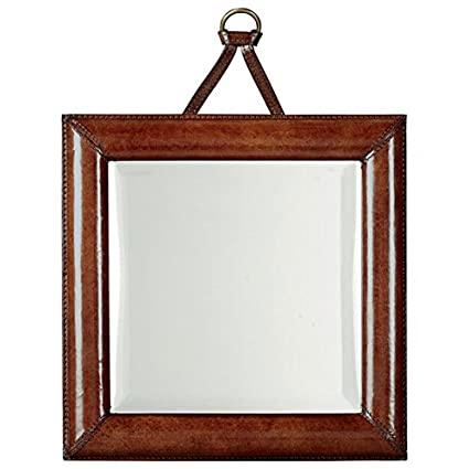 Zanzibar Leather Mirror,W35 x H46cm