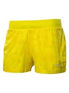 Asics Women's Pace Woven 3.5 Inch Shorts - Geometric Blazing Yellow, X-Small