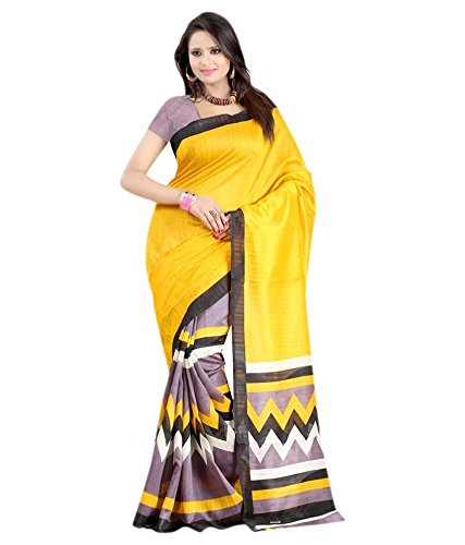 Yashoda Textile Multi Color Bhagalpuri Silk Printed Sarees With Un-Stitched Blouse Piece (1y.s_504_Multi)