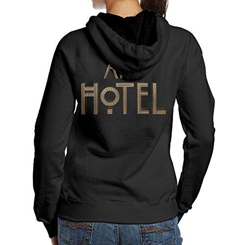 SBPZEB American Horror Story Hotel Letter Jersey Women's Hoodie S Black