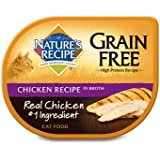 Nature's Recipe Grain Free Chicken Adult Cat Food Trays, Case of 18