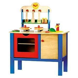 Bino - Cucina giocattolo per bambini, in legno, 17 pezzi: Amazon ...