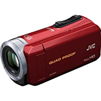 JVC Everio GZ-R10 Quad Proof Full HD Digital Video Camera Camcorder (Red) by JVC