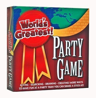 World's Greatest Party Game, Drawing Game,Charades Game,Scavenger Hunt , All three games are huge fun for the family, ages 13 and up - 1