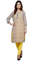 Lady In Red Georgette Kurta (Size- Large)