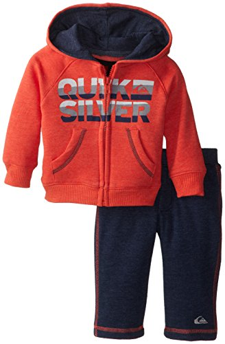 Quiksilver Babys Newborn Red Hoody With Pull On Pant, Red, 3-6 Months front-991761
