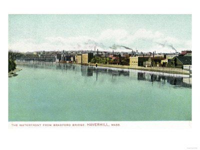 Haverhill, Massachusetts - Bradford Bridge View of the Waterfront